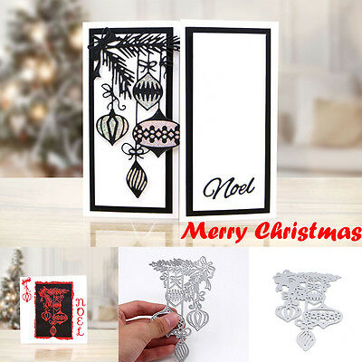 Xmas Metal Cutting Dies Stencil Scrapbook Album Paper Card Embossing DIY Craft