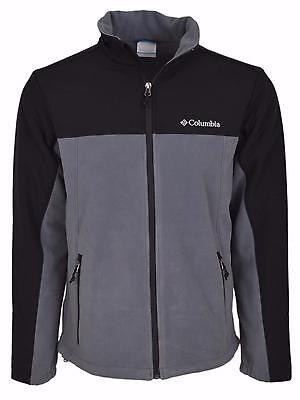New Columbia Men's Lookout Trail II Grey Fleece Windproof Zip Front Jacket M
