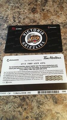 Victoria Grizzlies TIM HORTONS BCHL HOCKEY GIFT CARD Very Rare