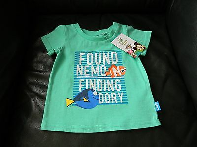 New Baby Children Finding Dory Tee Top Green Size 00 & Size 0 By Disney Baby