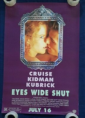 EYES WIDE SHUT MOVIE POSTER Original 27x40 Double 2 sided CRUISE KIDMAN Kubrick