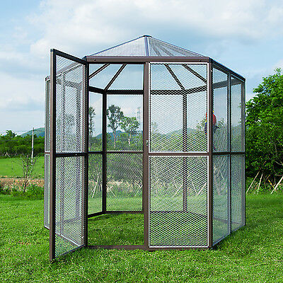 XXL Heavy Duty Outdoor Macaw Aviary Parrot Bird Reptile Cage Hexagonal Design