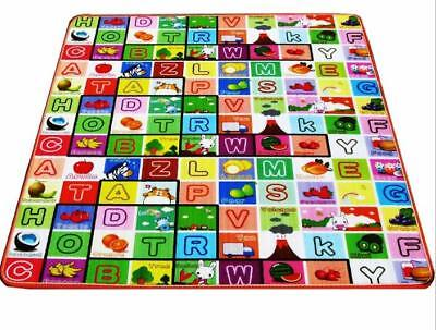 2 Side Kids Crawling Educational Game Play Mat Soft Foam Carpet 200X180X0.5CM