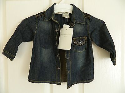 Baby Boy Denim Long Sleeve Shirt Kardashian Kids Sizes 00, 0 Cotton/Viscose