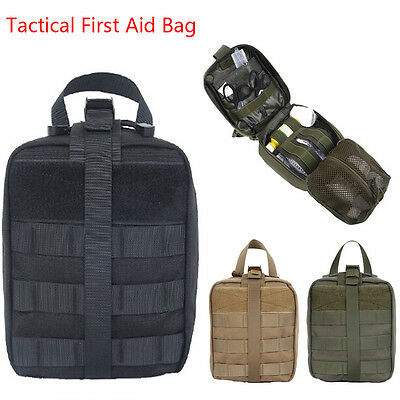 Tactical First Aid Bag MOLLE EMT Rip-Away Medical Military Utility Pouch aa