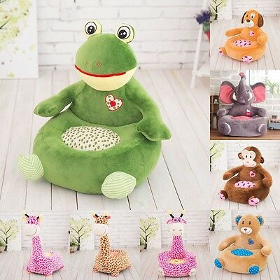 Cute Plush soft animal Sofa Stuffed Animal Cushion Seat Soft Toy Kid's Gift