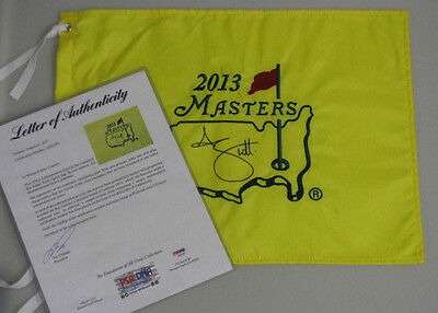 ADAM SCOTT Hand Signed Masters 2013 Golf Flag + PSA DNA COA  * BUY GENUINE *