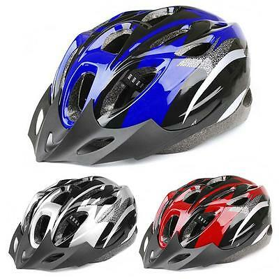 Mens Adult MTB Bike Bicycle Road Cycling 18 Holes Safety Helmet With Visor S K-+