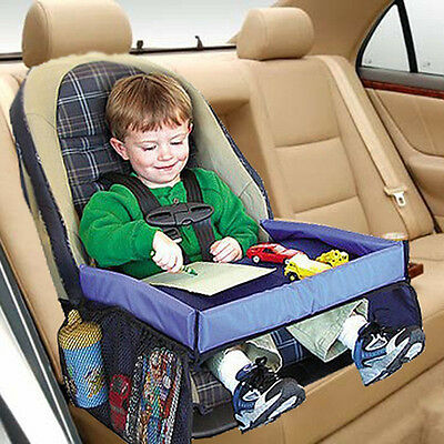 Waterproof Kids Baby Car Safety Seat Snack Play Travel Tray Drawing Table Boar-+