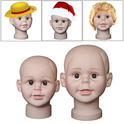 Boy Cute Kids Mannequins Manikin Head Models for Wig Hat Show Stand Display S L