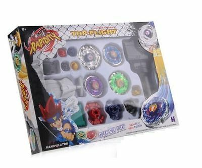 Fight Master  Metal Beyblade Top Set Fusion 4D Launcher Rare Toy Gift UK SELL