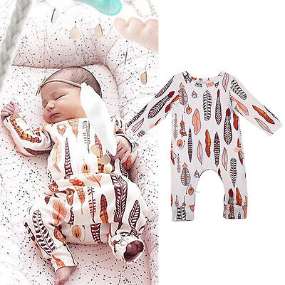 USA STOCK Newborn Infant Toddler Baby Girls Boy Romper Bodysuit Outfit Clothes
