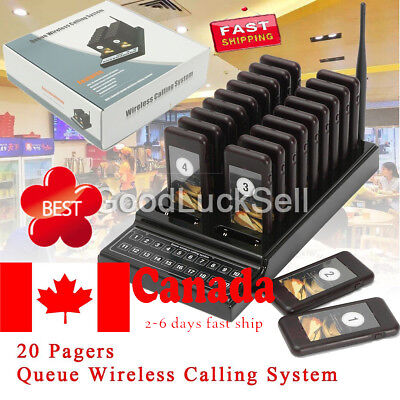 20 Restaurant Coaster Pager Guest Call Wireless Paging Queuing System In Canada!