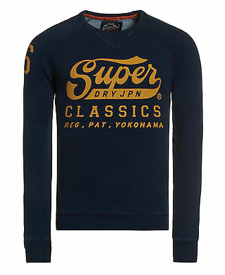 New Mens Superdry Factory Second Classics Crew Supermarine Navy