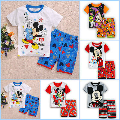 Children Kids Boy Girl Cartoon Sleepwear Baby Nightwear Pj's Pyjamas Set 2-7Year