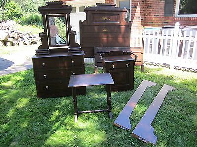 Antique Vintage Victorian Cottage Bedroom Set Complete