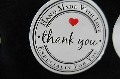 120 x Craft HAND MADE   Sticker Round Labels  Jar Bomboniere Party Gift LETTERS