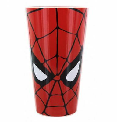 Official Marvel Spiderman Mask Large Drinking Glass Tumbler New In Gift Box