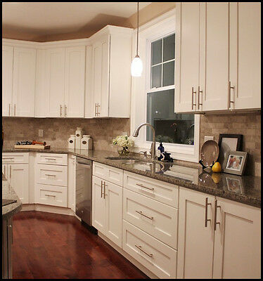 White Shaker Top Quality All wood RTA Kitchen Cabinets self closing hardware