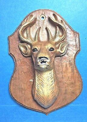 Vintage Hard Resin Deer head Wall Plaque