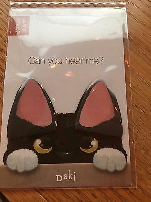 PAGE MARKERS Black White Cat Ears NEW Unique Sticky Notes FREE SHIP!
