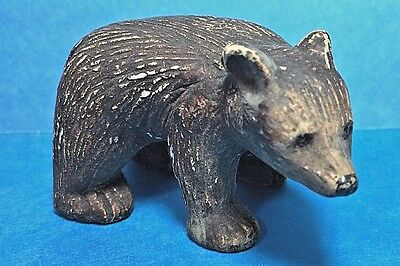Vintage Small Resin Brown Bear