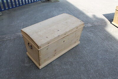 Antique Pine Dome Top Trunk Toy Box