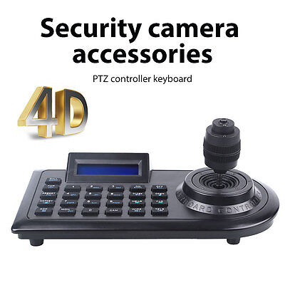 LCD Display 4D 4 Axis Control Keyboard Joystick Controllers for PTZ CCTV Camera