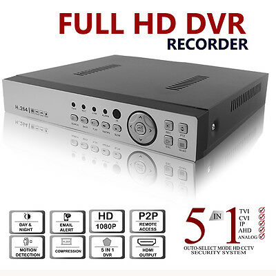 1080N 1080P Cctv Dvr Recorder 4 8 16 Channel Hd Video Network Cloud P2P Hdmi Vga