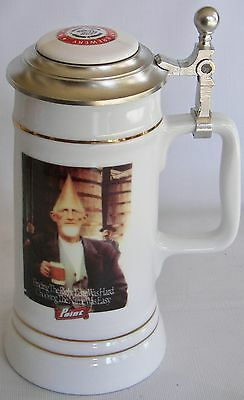 Stevens Point Brewery, Stevens Point, Wisconsin Cone Head Brewmaster Beer stein