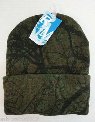 Bulk lot of 144 Hardwoods Tree Camoflauge Camo Winter Knit Toboggan Hat