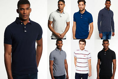 New Mens Superdry Polo Shirts Selection - Various Styles & Colours 3008