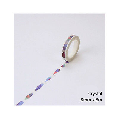Washi Tape | Masking Tape | Deko Klebeband, «Twilight - Crystal», 8mm x 8m