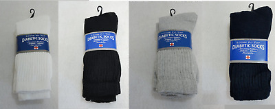 Bulk Lot of 240 Pairs Mens Womens Diabetic Therapeutic Crew Socks SIZE 10-13