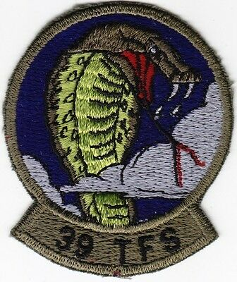 USAF 39th Tactical Fighter Squadron Subdued Patch