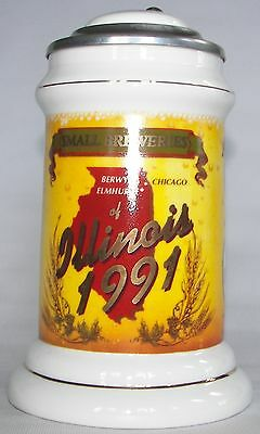 Chicago Brewing Co. Dinehart, 1991  beer stein, with other Illinois breweries