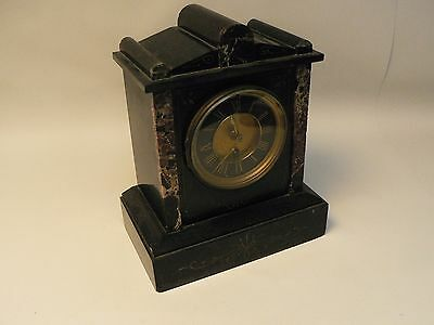 Attractive Antique Slate and Marble Clock, no pendulum