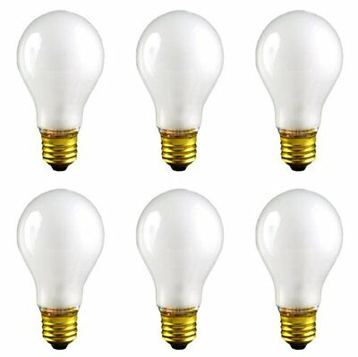 CEC Industries RSB75 Frosted Rough Service Bulbs, 130 V, 75 W, E26 Base, A-19
