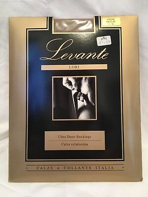 Vintage and Unopened Levante Lori Ultra Sheer Italian Stockings Size Medium