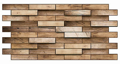 PVC Plastic Wall Panels 3D Decorative Tiles Cladding - WALNUT