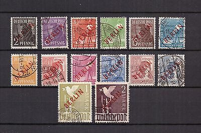 AM0130) Germany Berlin 1949, Mi.21-34, complete set of red overprint used