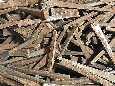 """100 Real Antique Wrought Iron Square Nails 2 1/4"""" Old Unused Nails"""