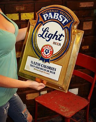 Vintage Pabst Blue Light Beer Sign. Advertising - Pub- Bar- Man Cave