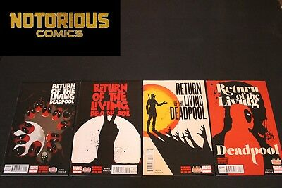 Return of the Living Deadpool 1-4 Complete Comic Lot Run Set Collection Marvel