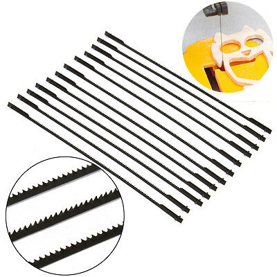 """12 pcs  5"""" (127mm) 10/15/18/24 TPI Pinned Scroll Engraving Carving Saw Blades"""