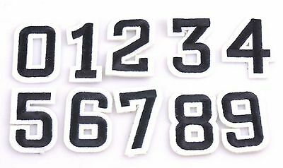 Block Number Patch, Black Number Patches Embroidered Numbers, Embroidered Number