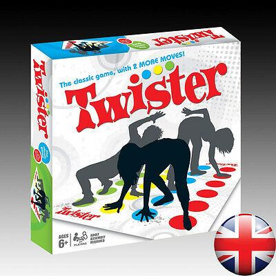 New Funny Twister The Classic Game With 2 More Moves Hasbro Family Party Games