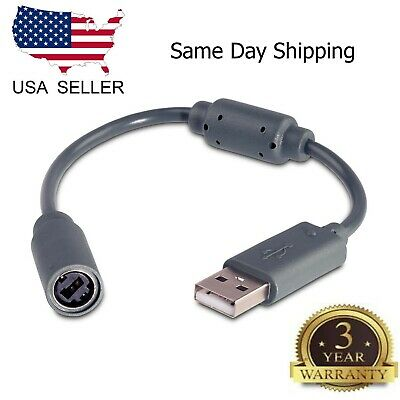 USB Breakaway Cable Cord Adapter For Xbox 360 PC Wired Controller