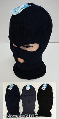 Wholesale 96pc Lot Assorted Solid Color Winter Knit 3 Hole Ski Mask
