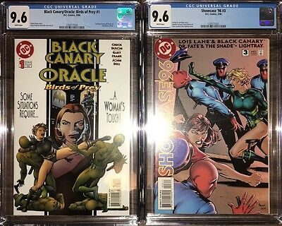 Black Canary Oracle #1 & Showcase 96 #3 CGC 9.6 1st Appearance Birds of Prey